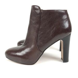 Nine West Gidran Brown Leather Booties Size 8